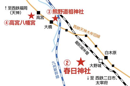 地図 春日神社