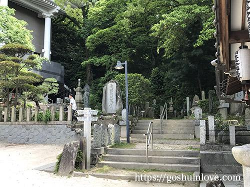お寺の近くの風景