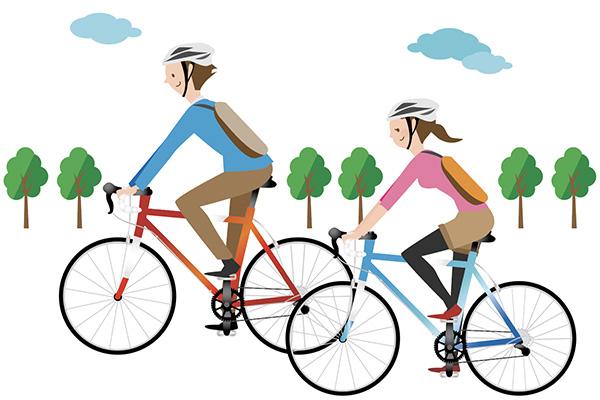 自転車の二人
