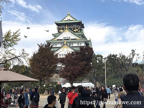 大阪城引き
